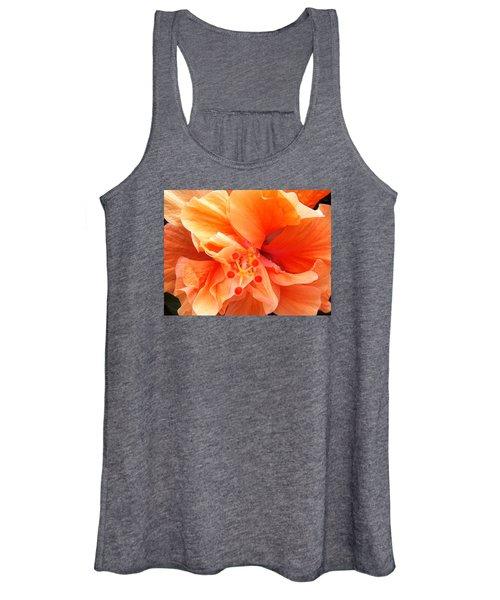 Orange Hibiscus Women's Tank Top
