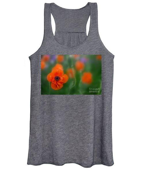 Orange Poppy Women's Tank Top