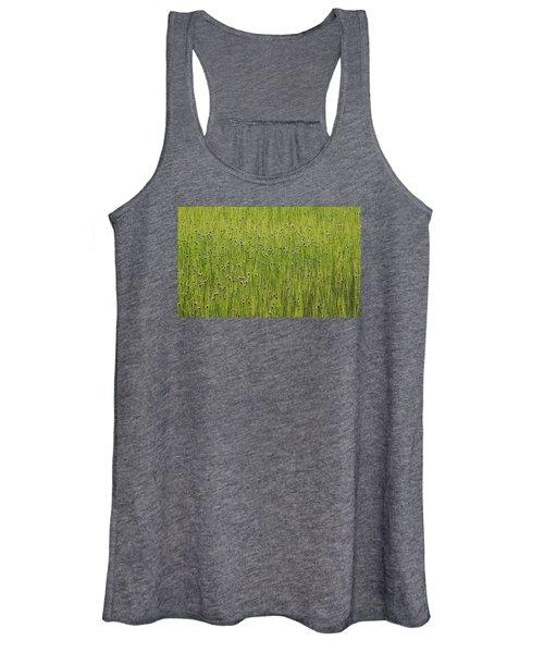 Organic Green Grass Backround Women's Tank Top