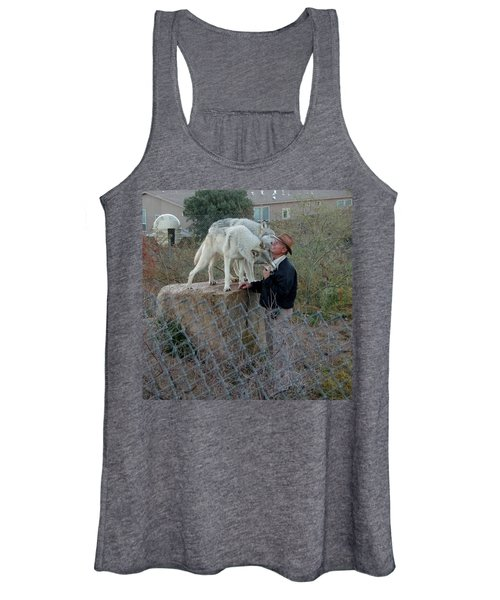 Out Of Africa  Friendly Wolves Women's Tank Top