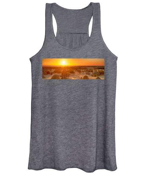 Panoramic Photo Of Sunset At The Pinnacles Women's Tank Top