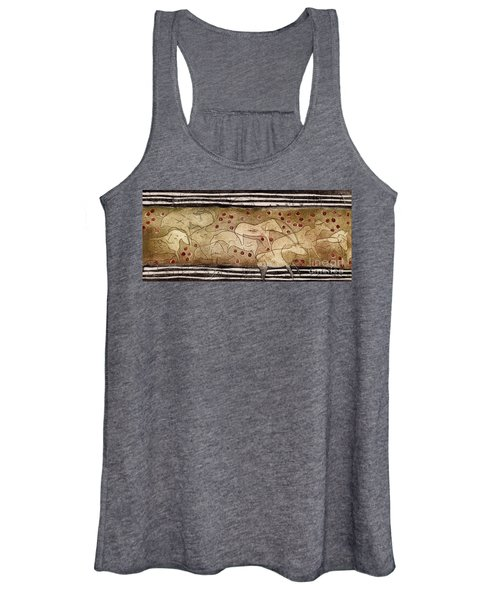 Petroglyph - Ensemble Of Red Dots And Short Strokes - Prehistoric Art - The Plains - Prarie Country Women's Tank Top