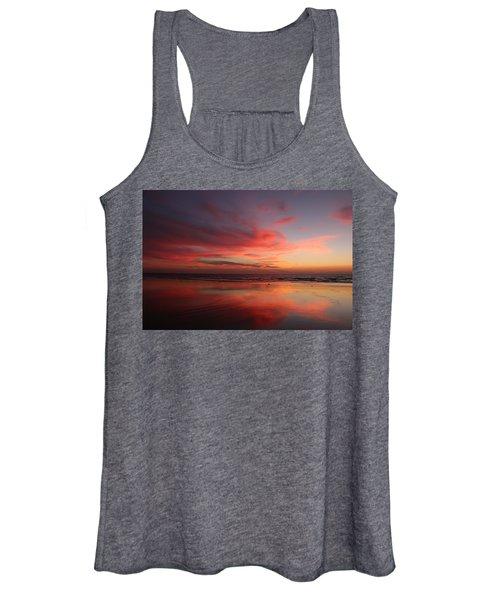 Ocean Sunset Reflected  Women's Tank Top
