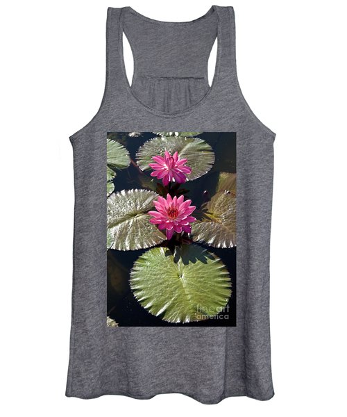 Pink Water Lily IIi Women's Tank Top