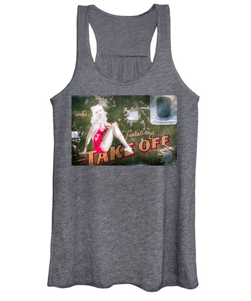 Pinup Girl - Aircraft Nose Art - Take Off Anne Women's Tank Top