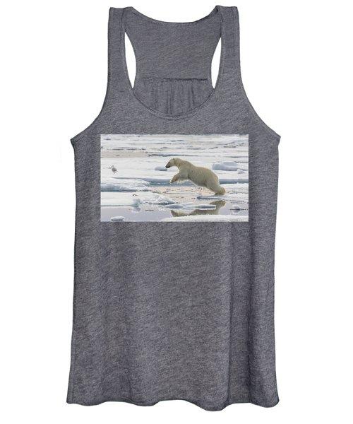 Polar Bear Jumping  Women's Tank Top
