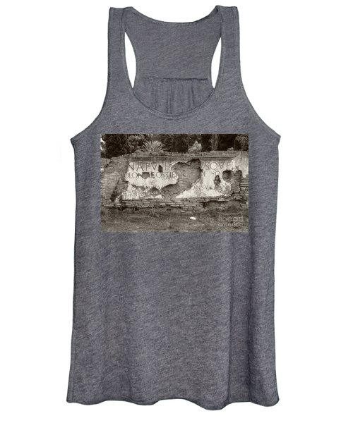 Porta Romana In Sepia Women's Tank Top