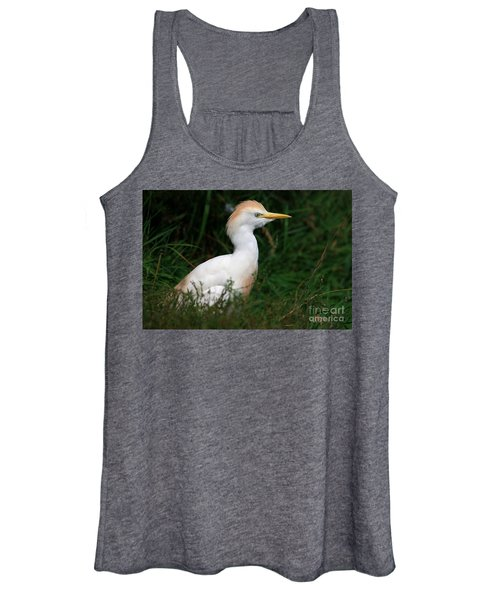Portrait Of A White Egret Women's Tank Top