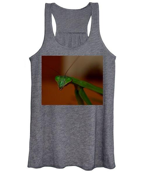 Praying Mantis Closeup Women's Tank Top