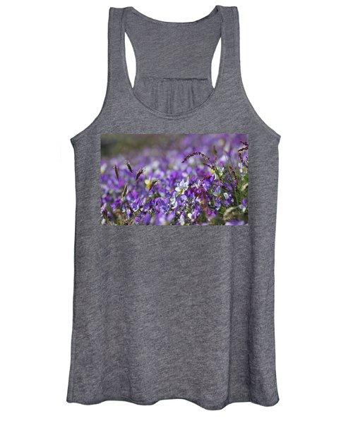 Purple Flower Bed Women's Tank Top