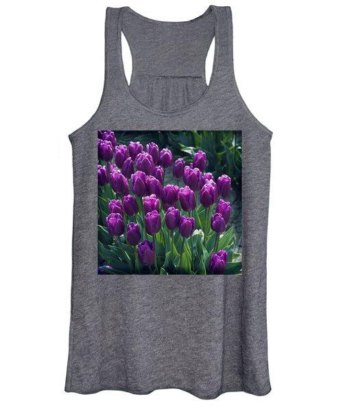 Purple Tulips Women's Tank Top