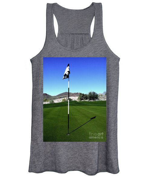Putting Green And Flag On Golf Course Women's Tank Top