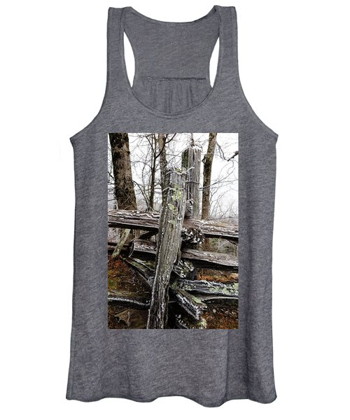 Rail Fence With Ice Women's Tank Top