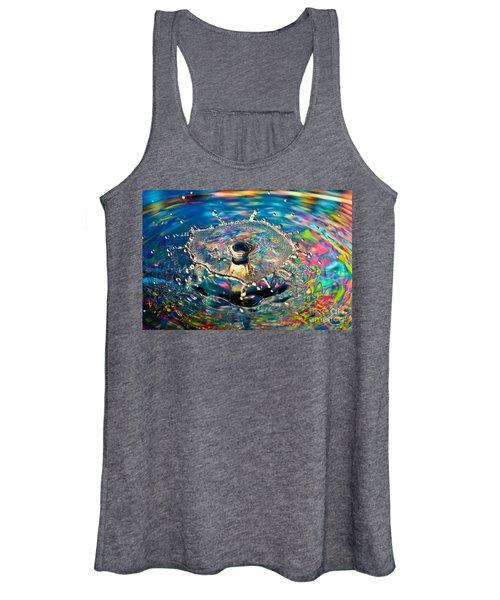 Rainbow Splash Women's Tank Top