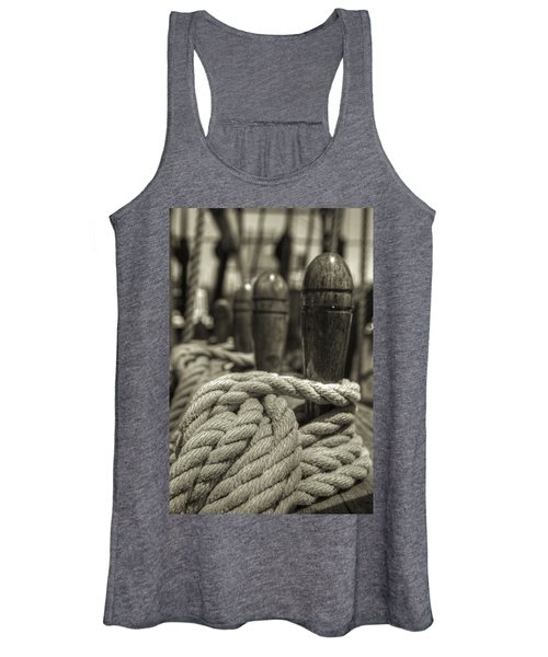 Ready For Work Black And White Sepia Women's Tank Top