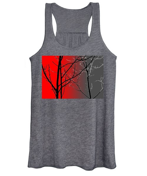 Red And Gray Women's Tank Top