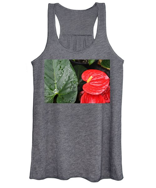 Red Anthurium Flower Women's Tank Top
