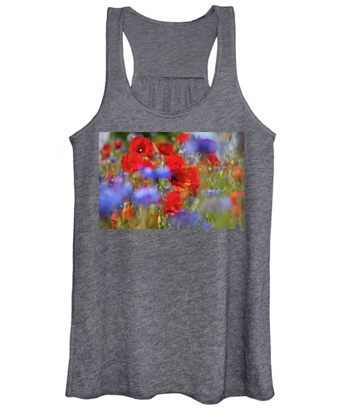 Red Poppies In The Maedow Women's Tank Top