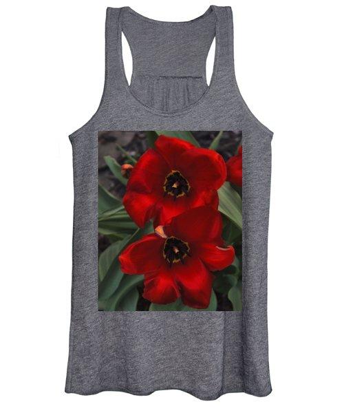 Red Tulip Pair Women's Tank Top