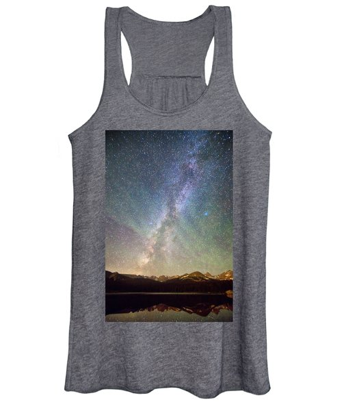 Rocky Mountains Indian Peaks Milky Way Rising Women's Tank Top