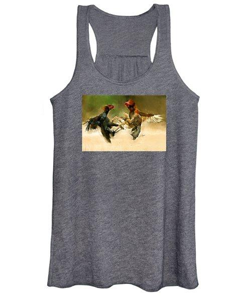 Rooster Fight Hd Women's Tank Top