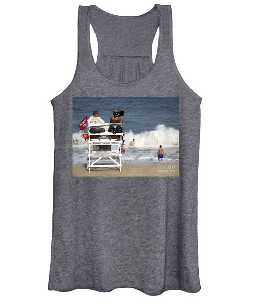 Rough Water At Bethany Beach In Delaware  Women's Tank Top