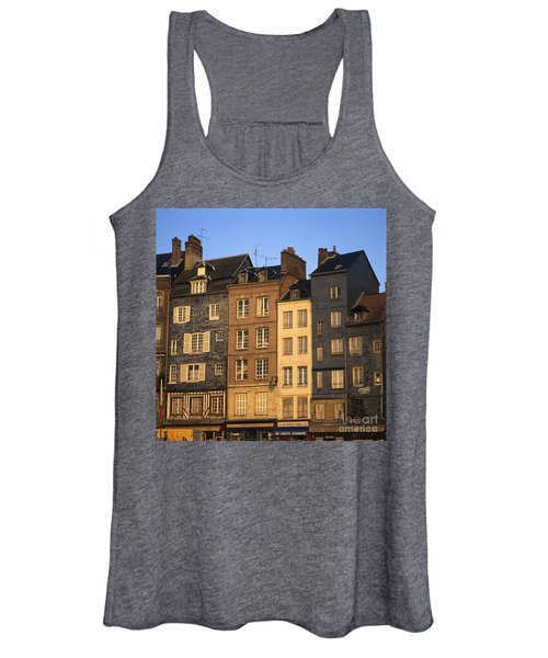 Row Of Houses. Honfleur Harbour. Calvados. Normandy. France. Europe Women's Tank Top