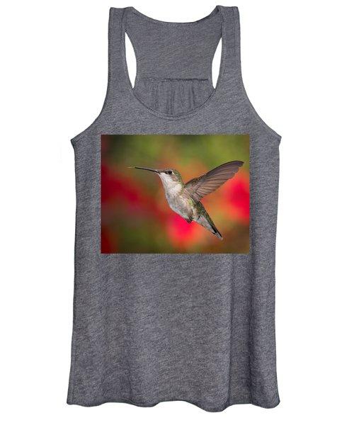 Ruby Throated Hummingbird Women's Tank Top