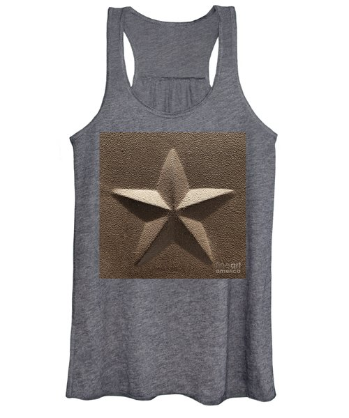 Rustic Five Point Star Women's Tank Top