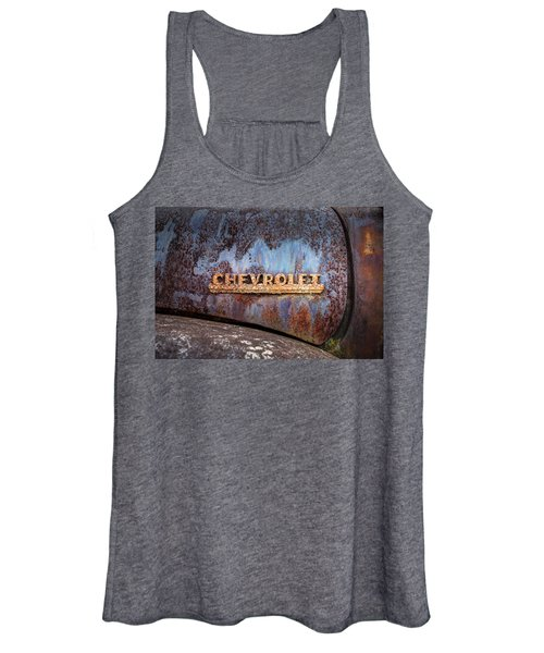 Rusty Chevrolet - Nameplate - Old Chevy Sign Women's Tank Top