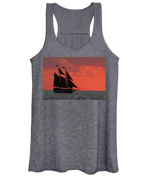 Key West Sunset Sail 5 Women's Tank Top