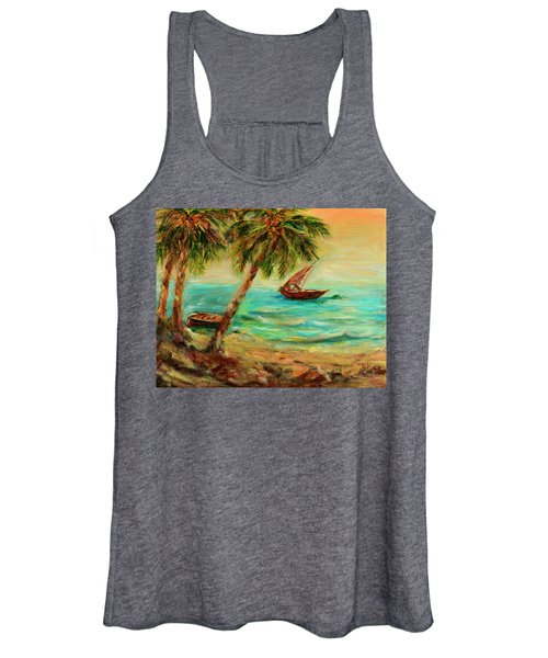 Sail Boats On Indian Ocean  Women's Tank Top