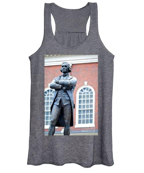 Samuel Adams Statue Massachusetts State House Women's Tank Top