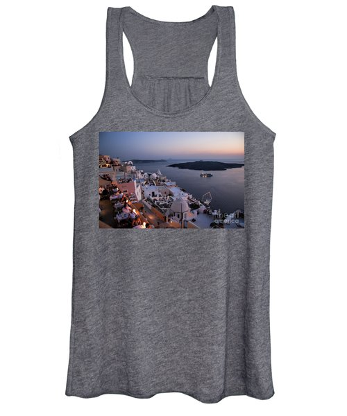 Santorini At Dusk Women's Tank Top