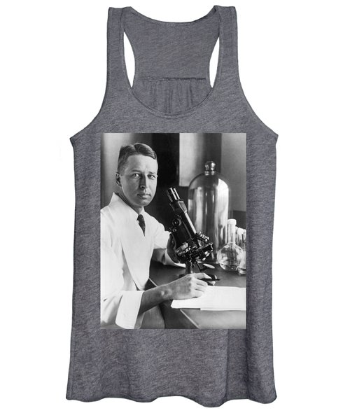 Scientist With Microscope Women's Tank Top