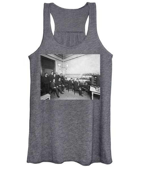 Scientists With Microscopes Women's Tank Top