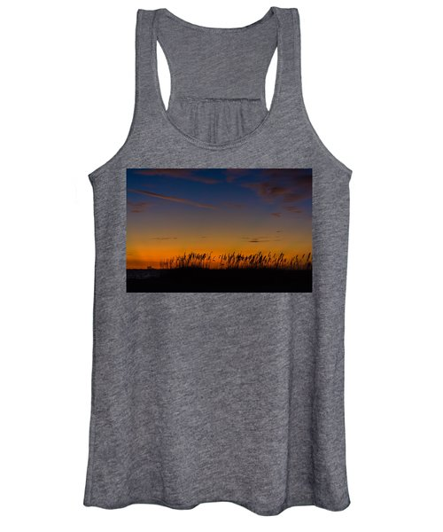 Sea Oats At Twilight Women's Tank Top