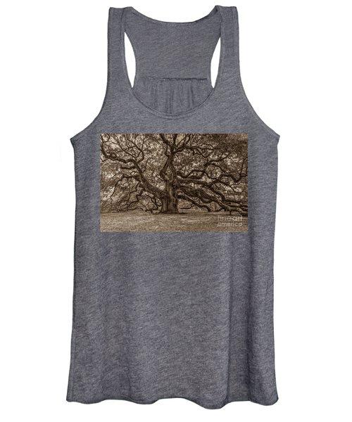 Sepia Angel Oak Women's Tank Top