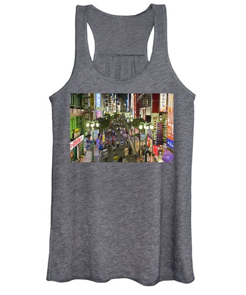 Shinjuku Street Scene At Night Women's Tank Top