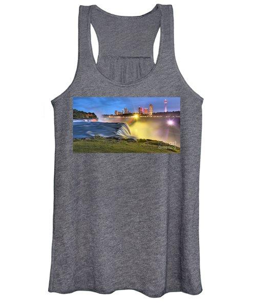 Silky Niagara Falls Panoramic Sunset Women's Tank Top