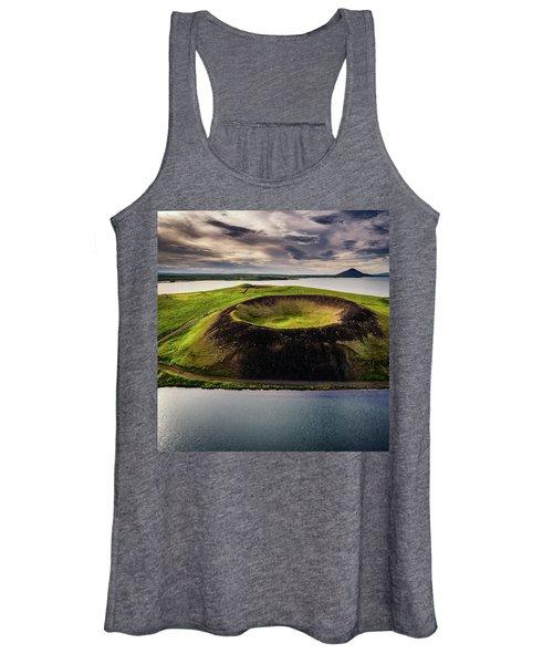 Skutustadagigar Pseudo Craters, Lake Women's Tank Top