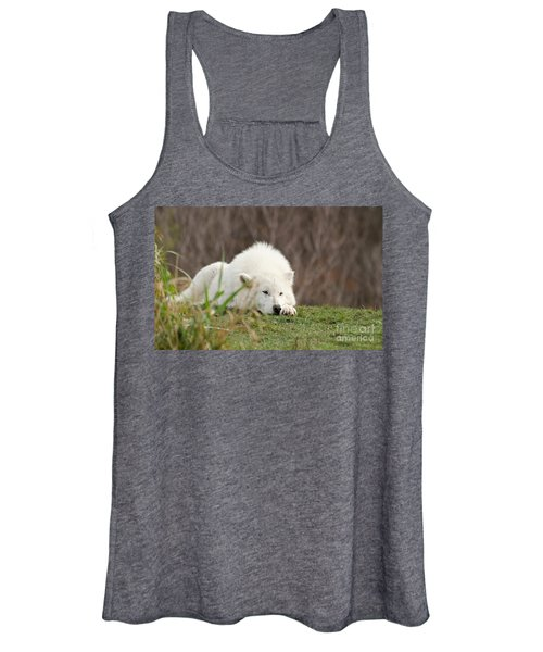 Sleeping Arctic Wof Women's Tank Top