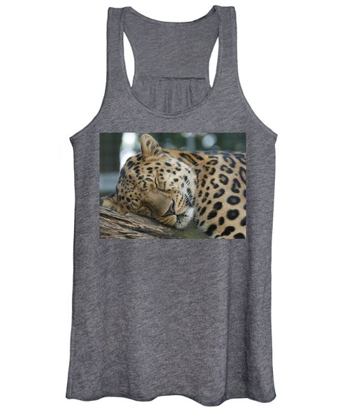 Sleeping Leopard Women's Tank Top