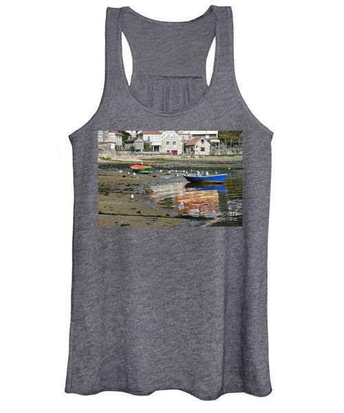 Small Boats And Seagulls In Galicia Women's Tank Top