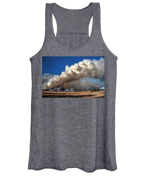 Smoke Column From The Norbeck Prescribed Fire. Women's Tank Top