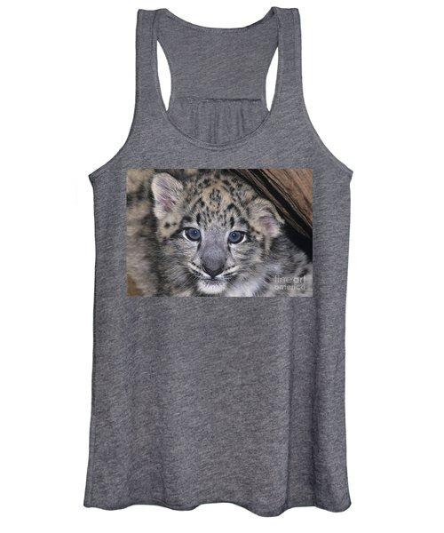 Snow Leopard Cub Endangered Women's Tank Top