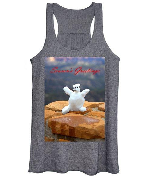 Snowball Snowman Women's Tank Top