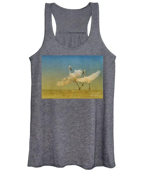 Snowy Egret Dance Women's Tank Top