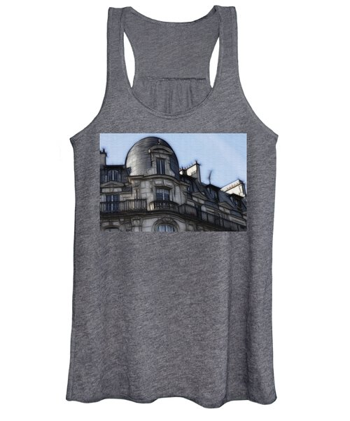 Softer Side Of Paris Architecture Women's Tank Top