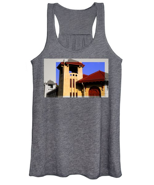 Spanish Architecture Tile Roof Tower Women's Tank Top